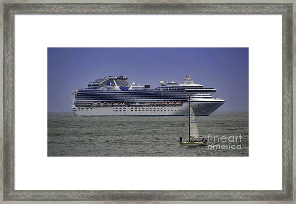 Cruising Framed Print