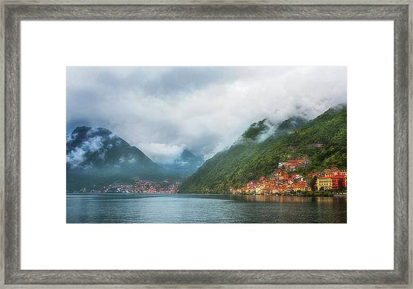 Cruising Lake Como Italy Framed Print