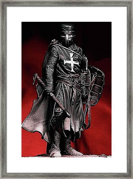 Crusader Warrior - Medieval Warfare Framed Print