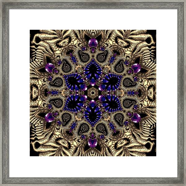 Framed Print featuring the digital art Crystal 61345 by Robert Thalmeier