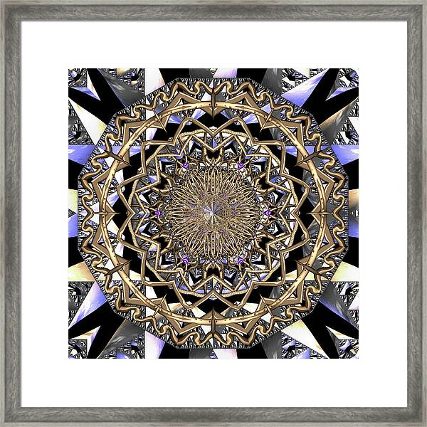 Framed Print featuring the digital art Crystal Ahau  by Robert Thalmeier