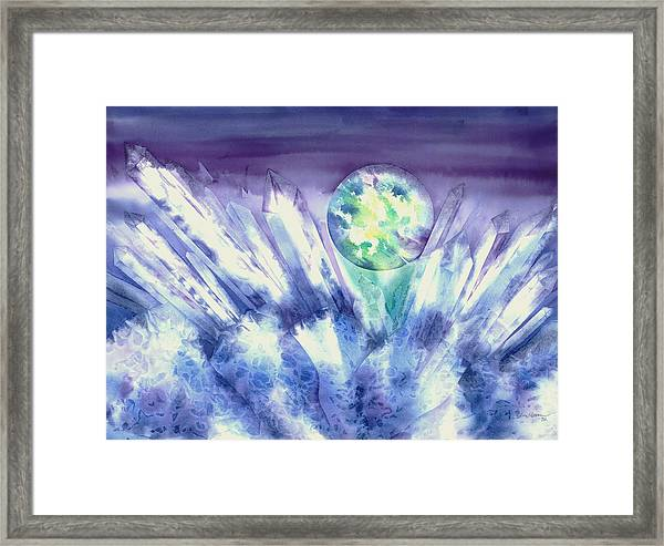 Crystal Awakening Framed Print
