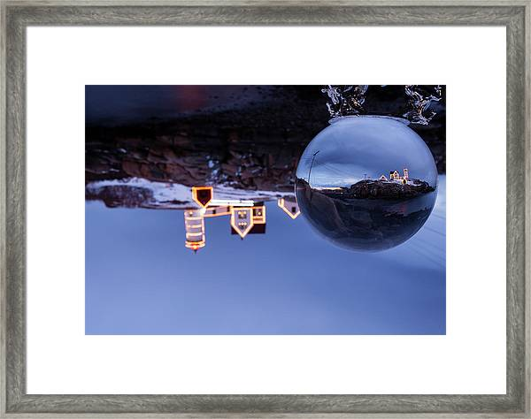 Crystal Ball Nubble Framed Print