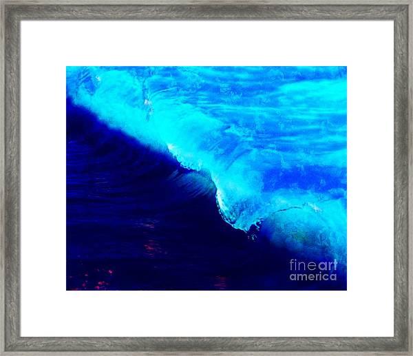 Crystal Blue Wave Painting Framed Print