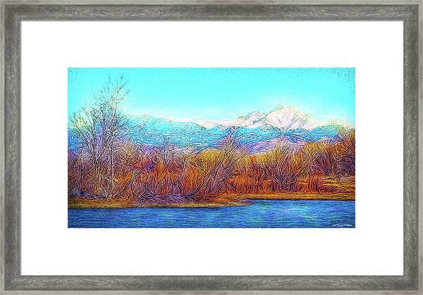 Crystal Blue Winter Day Framed Print