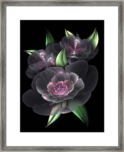 Crystal Bouquet Framed Print