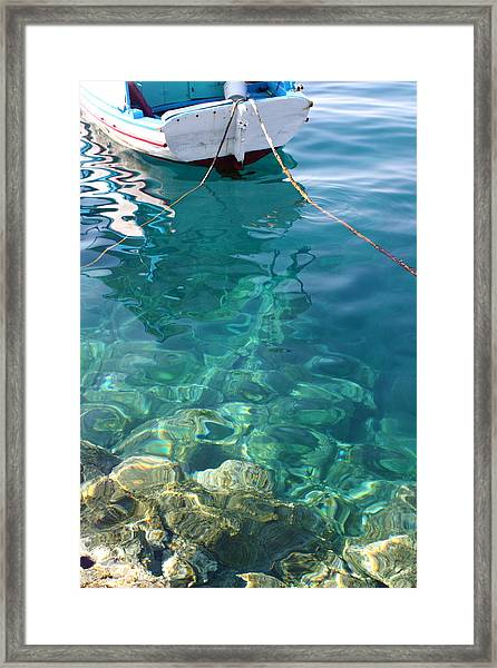 Crystal Clear Framed Print by Yvonne Ayoub