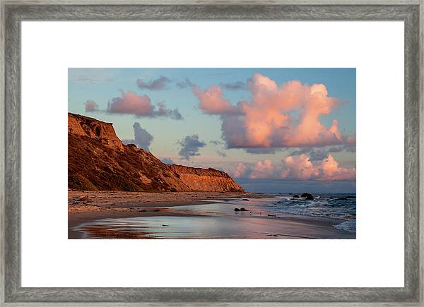 Crystal Cove Reflections Framed Print