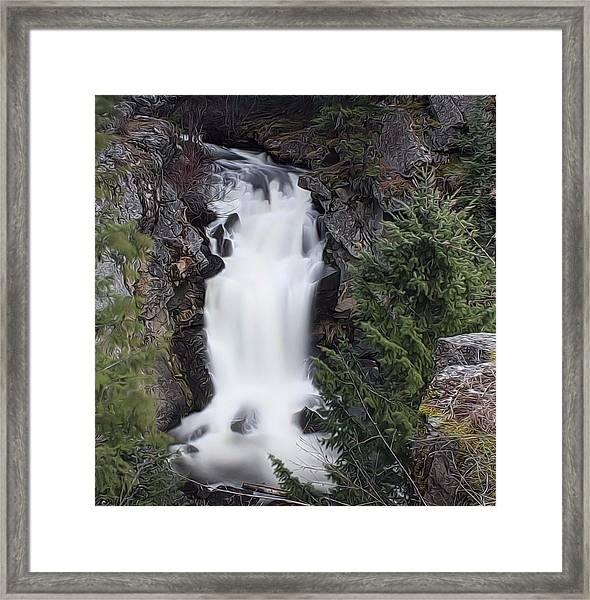Crystal Falls , Wa Framed Print