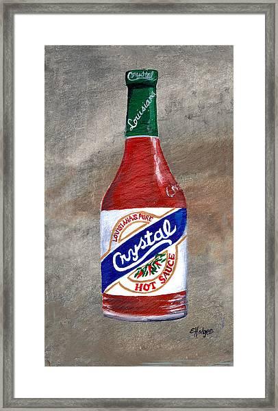 Crystal Hot Sauce Framed Print
