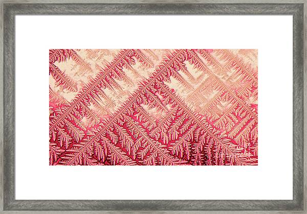 Crystal In Red Pigment Framed Print