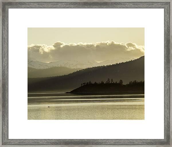 Crystal Kayak Framed Print