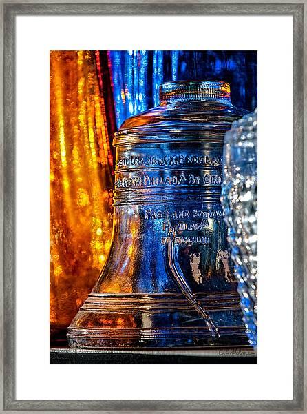 Crystal Liberty Bell Framed Print