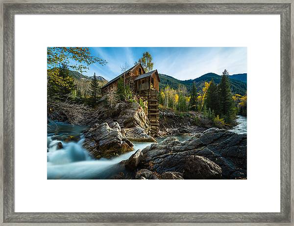 Crystal Mill Framed Print