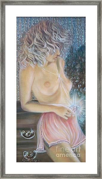 Blaa Kattproduksjoner      Crystal Wonder Viking Girl  Framed Print
