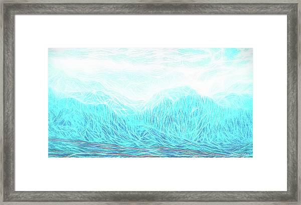 Crystalline Mountain Light Framed Print