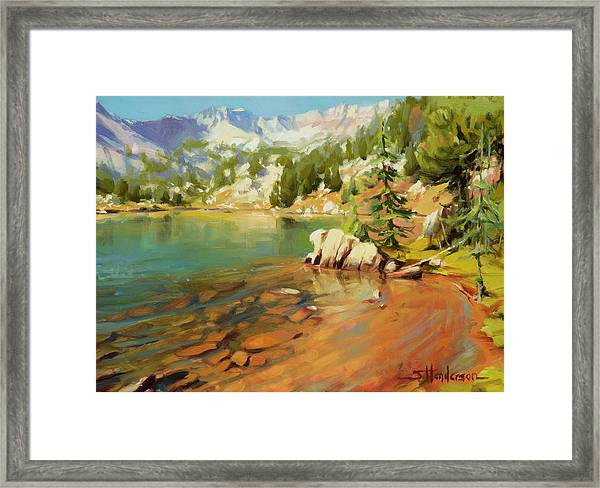 Crystalline Waters Framed Print
