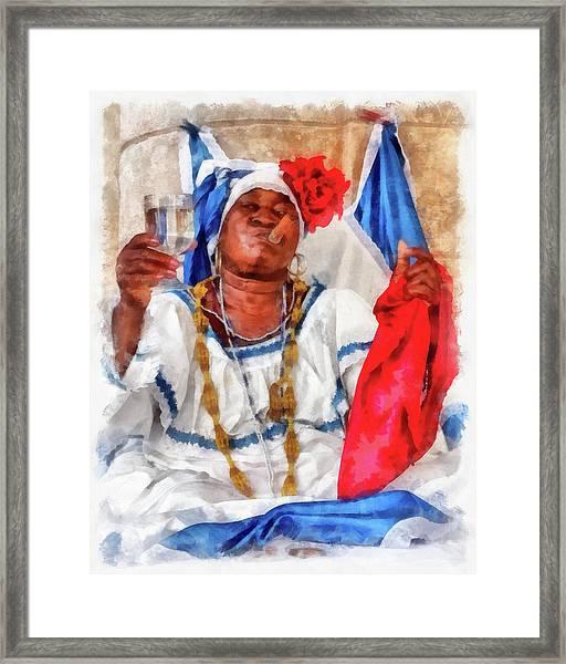 Cuban Character Framed Print