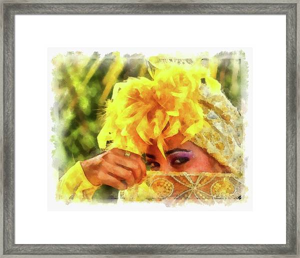 Cuban Eyes Framed Print