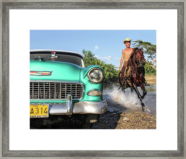 Cuban Horsepower Framed Print