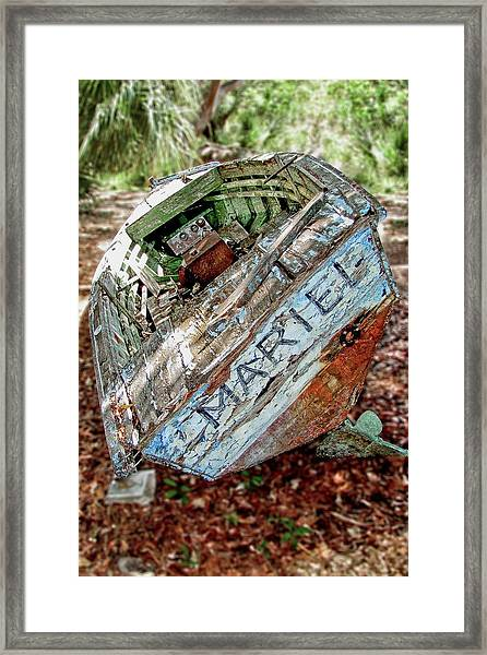 Framed Print featuring the photograph Cuban Refugee Boat 3 The Mariel by Bob Slitzan