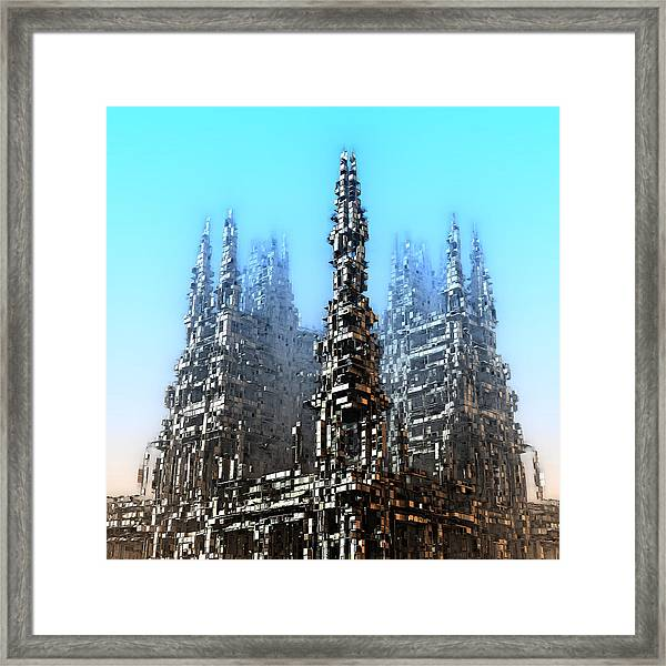 Cube Towers Framed Print