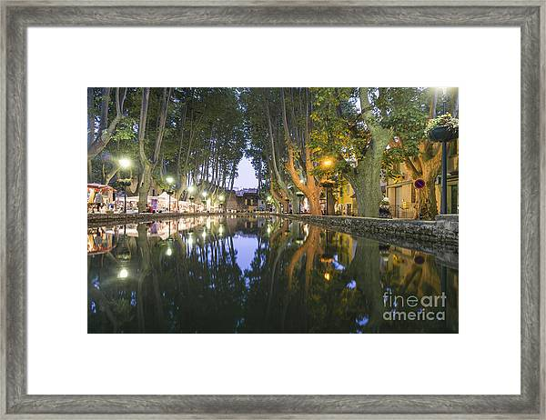 Framed Print featuring the photograph Cucuron Village Provence  by Juergen Held