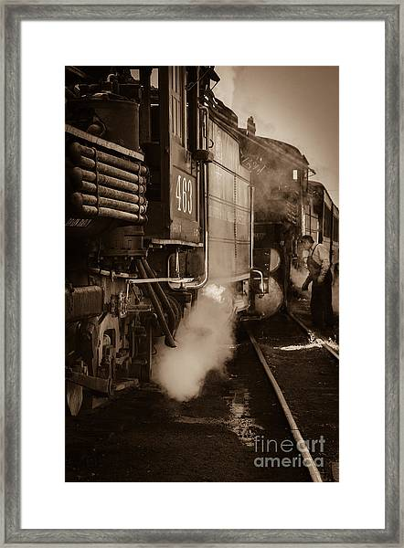 Cumbres And Toltec Steam Train  Framed Print by Scott and Amanda Anderson