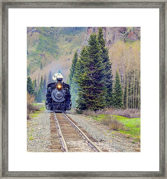 Cumbres Toltec  Train Framed Print by Larry Bodinson