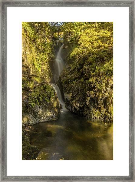 Cumbrian Waterfall. Framed Print