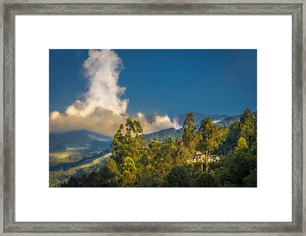 Giant Over The Mountains Framed Print