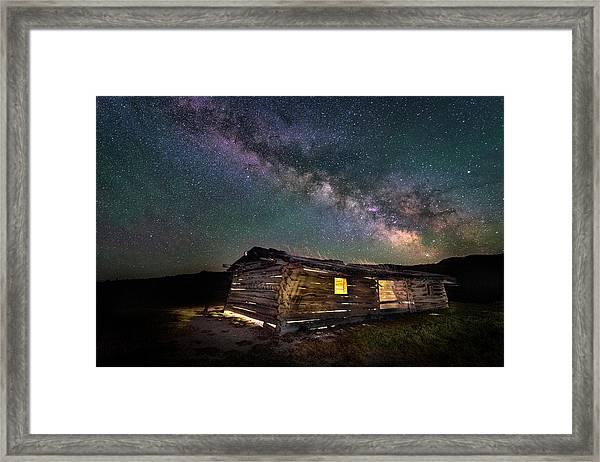 Cunningham Cabin After Dark Framed Print