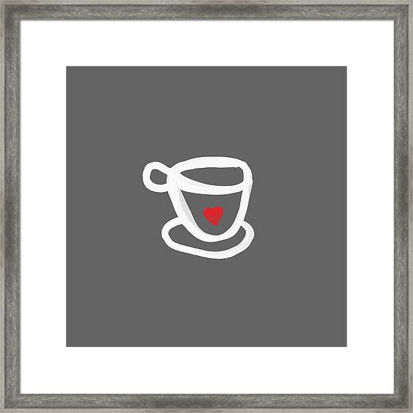 Cup Of Love- Shirt Framed Print