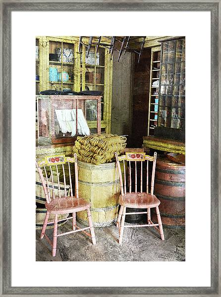 Cupboards Full Of Poetry Framed Print