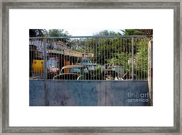 Curacao Graveyard  Framed Print by Steven Digman