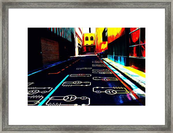 Curcuit City Framed Print