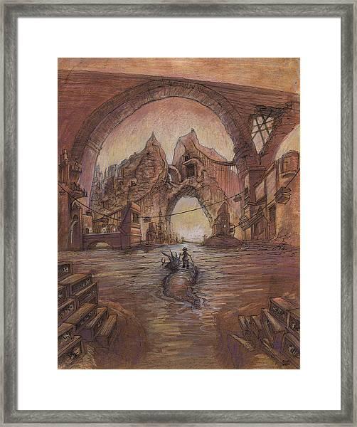 Curdle Gate Framed Print