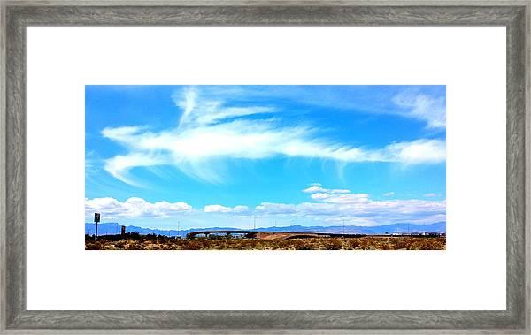 Dragon Cloud Over Suburbia Framed Print