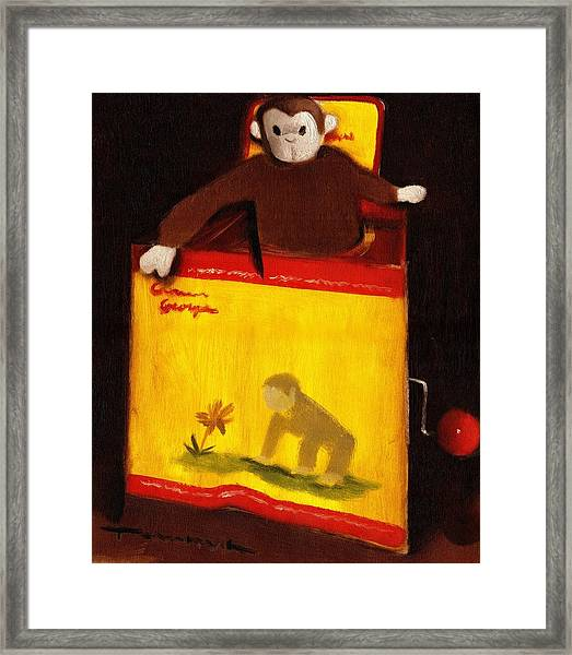 Curious George Still Life Jack In The Box  Art Print Framed Print