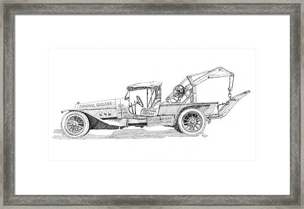 Curious Wrecker Framed Print by David King