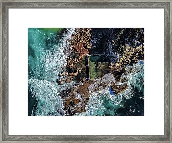 Framed Print featuring the photograph Curl Curl Pool by Chris Cousins