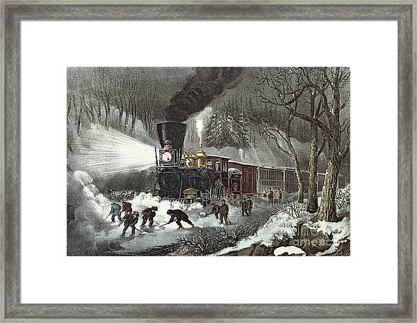Currier And Ives Framed Print