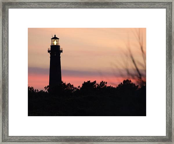 Currituck Beach Lighthouse At Sunset Framed Print