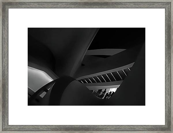 Curvilinear Abstract Framed Print