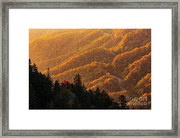 Smoky Mountain Roads Framed Print