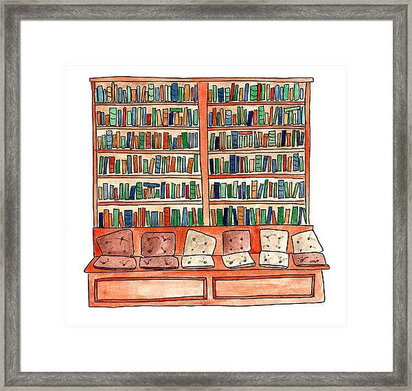 Cushions Room Of Shakespeare And Company Framed Print