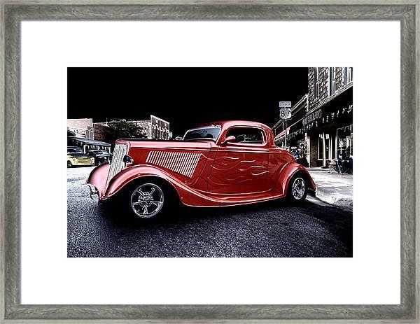 Custom Car On Street Framed Print