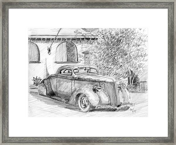 Custom Ford Graphite Framed Print