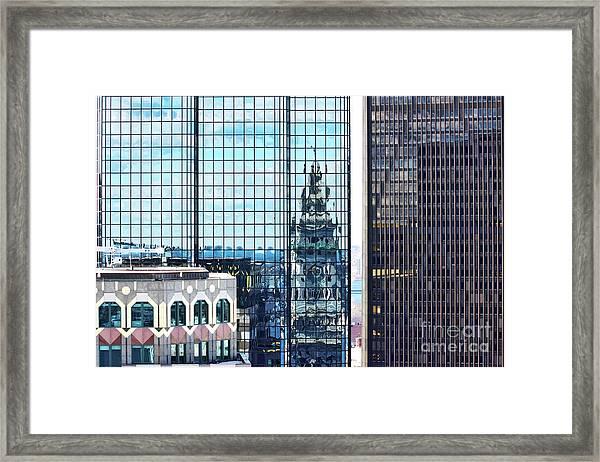 Custom House Reflection Framed Print