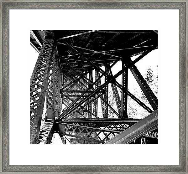 Cut River Bridge Framed Print